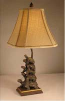 Bronze Turtles Table Lamp