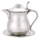 Woodbury Pewter Syrup Jug and Plate