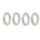 Woodbury Pewter Rope Napkin Rings