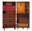 Authentic Models Stateroom Armoire Black